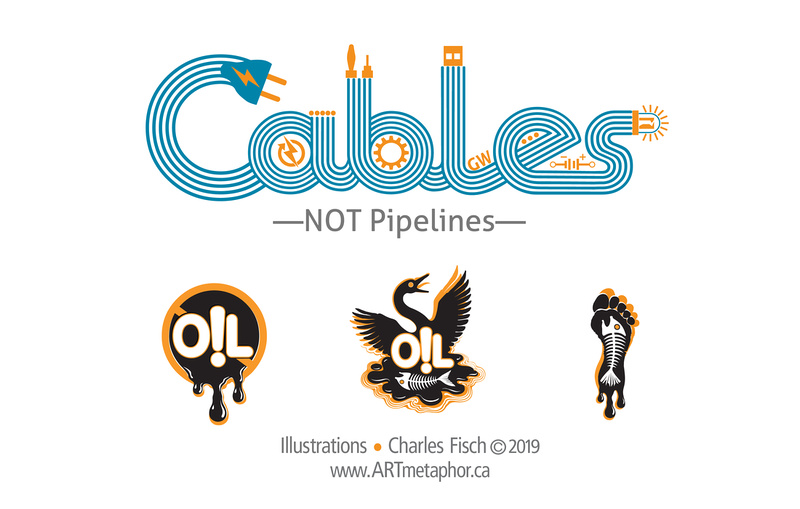 CABLES NOT OIL PIPELINES LOGOS