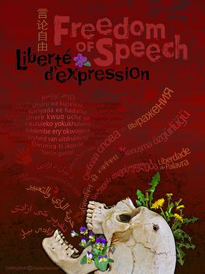 FREEDOM of SPEECH   8x11  / Liberté de la Parole 20x28cm